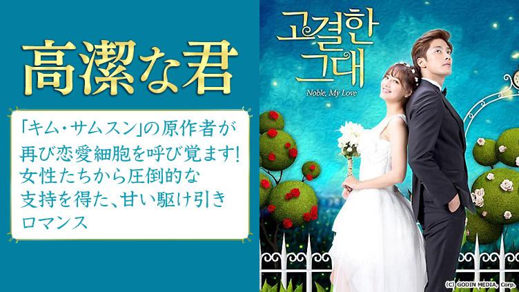 韓国ドラマ「高潔な君」のメインビジュアル