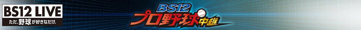 プロ野球中継 2019(BS12 無料放送・視聴)メインビジュアル