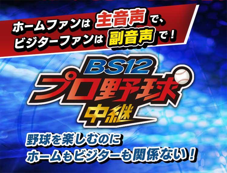 プロ野球中継 2019(BS12 無料放送)のトップイメージ