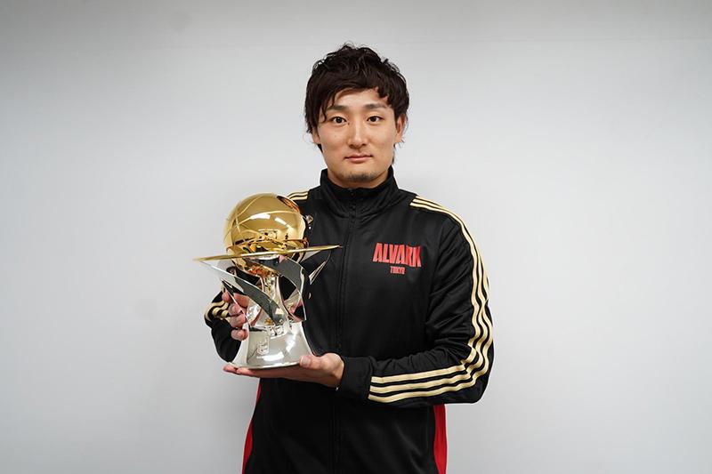 MVPに輝いた田中選手(©B.LEAGUE)