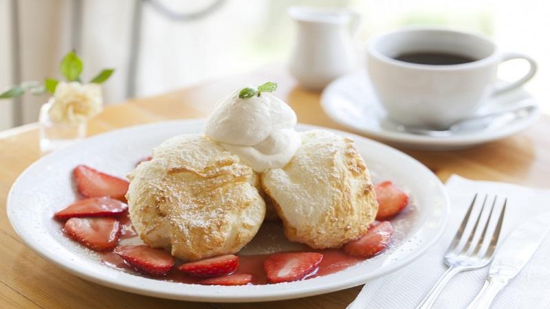 フレンチスタイルのスフレパンケーキ クリーム ポット/Cream Pot