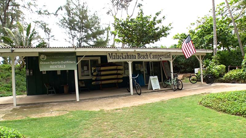 マラエカハナ ビーチ キャンプグラウンド